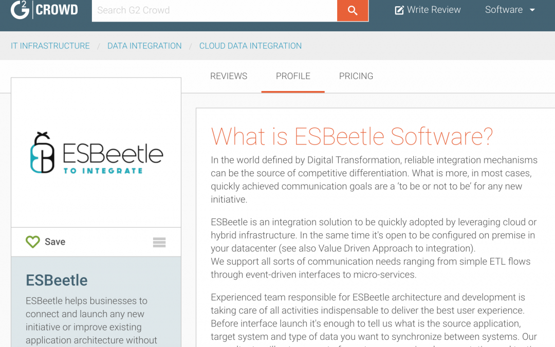 ESBeetle profile on G2 Crowd