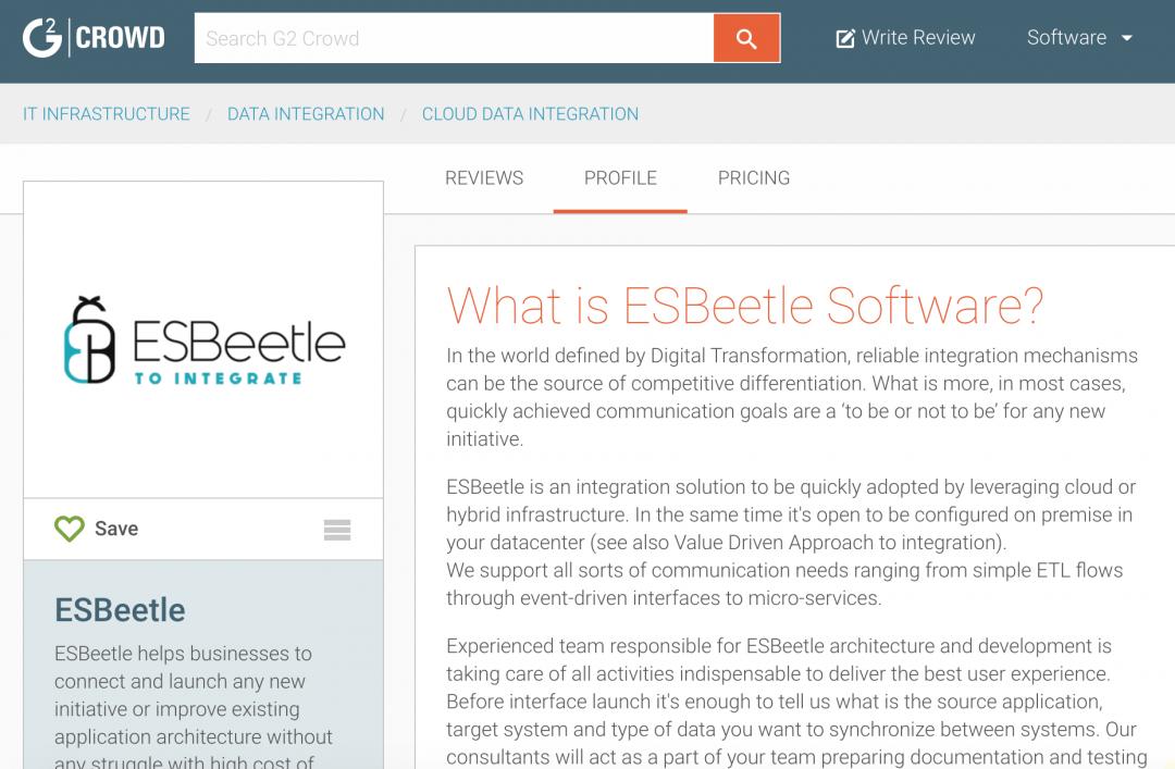 ESBeetle profile on G2 Crowd